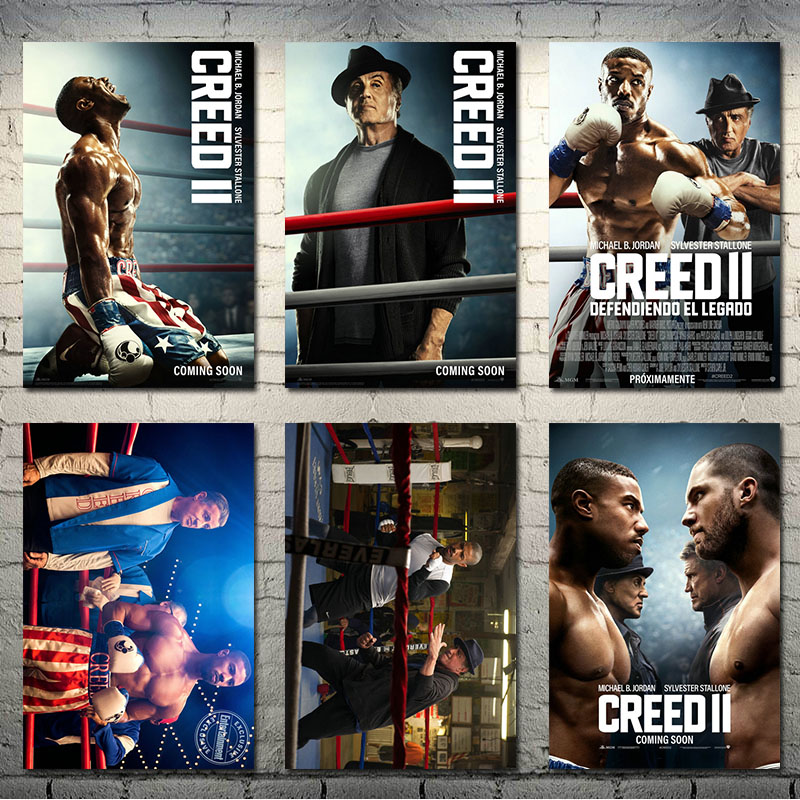 Creed II Boxing Hot Movie Art Silk Canvas Poster 13x20 24x36inch Wall Pictures-001 image