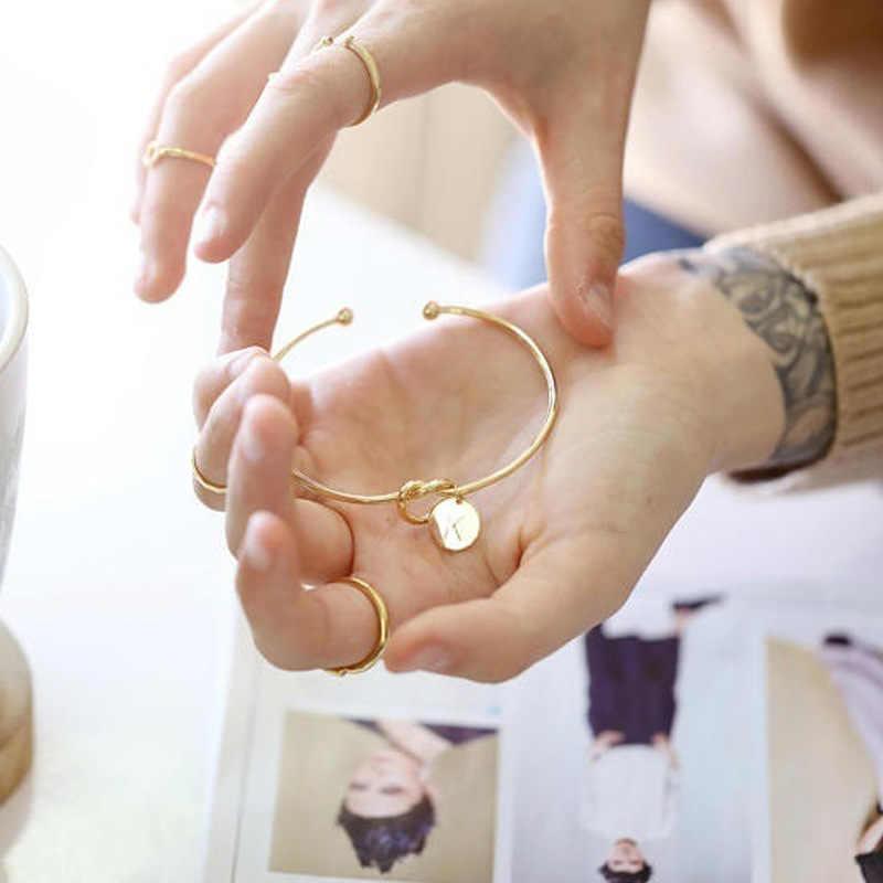 Nova Moda mulheres homens amantes pulseira de Ouro Rosa Quente/Prata Carta Liga Charme Pulseira Do Sexo Feminino Jóias de Personalidade