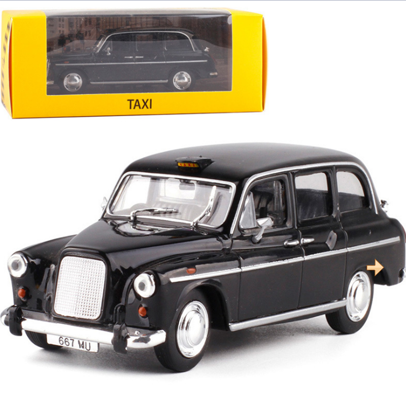 <font><b>1:43</b></font> Static Model Classic <font><b>Vintage</b></font> Acrylic Box London Taxi 1958 Alloy Car Model toys <font><b>Diecast</b></font> for Collection Gifts image