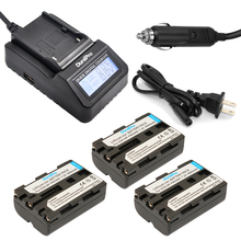 DuraPro 3Pcs NP-FM500h Battery + LCD Fast Charger for Sony Alpha A58 A350 A300 A350 A450 A500 A550 A580 A700 A99 A850 SLT-A57