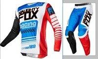 Freies Verschiffen 2017 FRECH FOX RACING Racomg Mx 180 LE unhold Blau Rot Jersey Hosen Motocross Gear Set off-road racing anzug