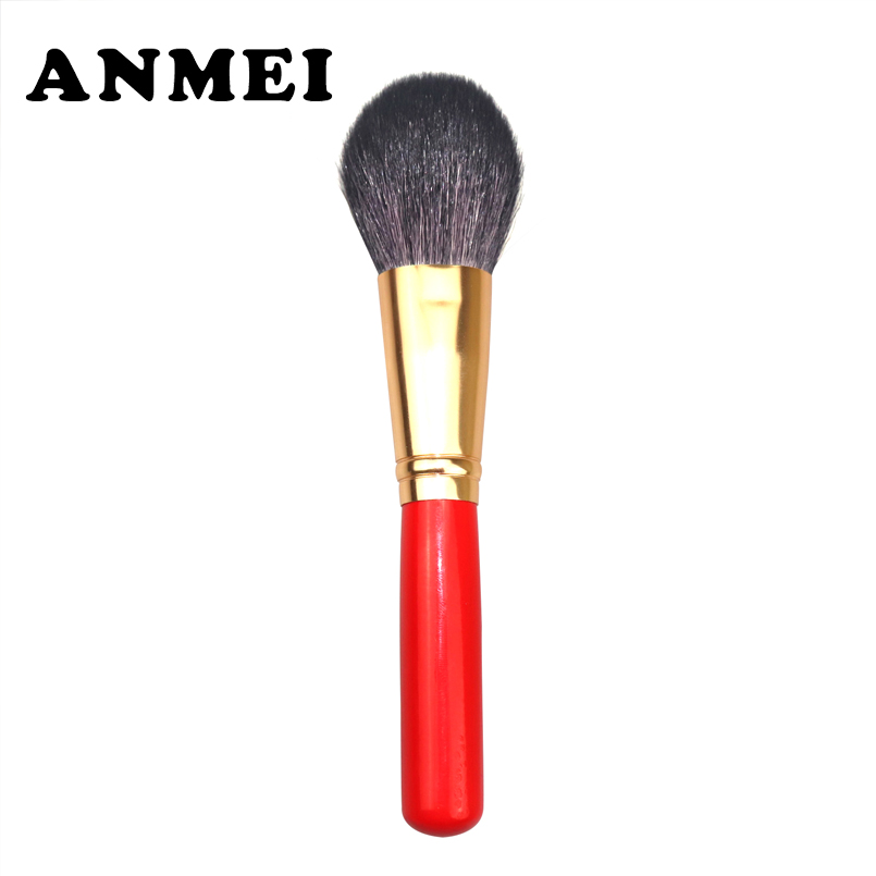 1pc Professional Wooden Makeup Brushes Kit Natural Soft Wool High Quality Brushes red Handle Make Up Brushes Foundation Tools