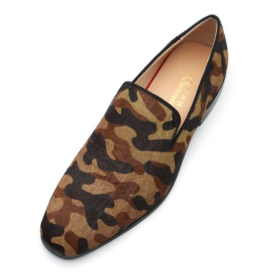 Fashion Loafers Men Leopard Fur Suede Flats Smoking Low Heel Sapatos Casual Dress 2018 italian Brand homme White Black Shoes fashion tassels ornament leopard pattern flat shoes loafers shoes black leopard pair size 38
