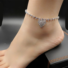 MS кристалл акт роль ofing пробован Кристалл цветы были Девушки ноги цепи 5 шт. бесплатная доставка