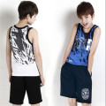 Child set summer male New 2015 casual sports shorts boys clothing Vest + short pant 2-piece kids