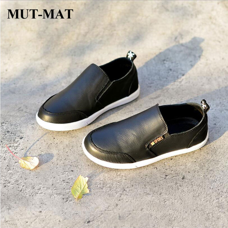 2019 Children Genuine Leather Boy Single Shoes Casual Shoes England Peas Shoes Spring And Autumn Comfortable Soft Bottom Shoes