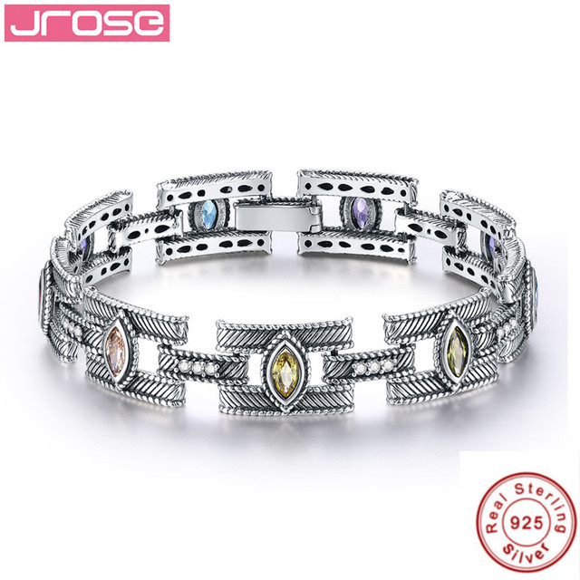 Jrose18cm Toggle Clasps Solid 925 Sterling Silver Ankle Bracelet Pave Setting 12 5ct White Cz