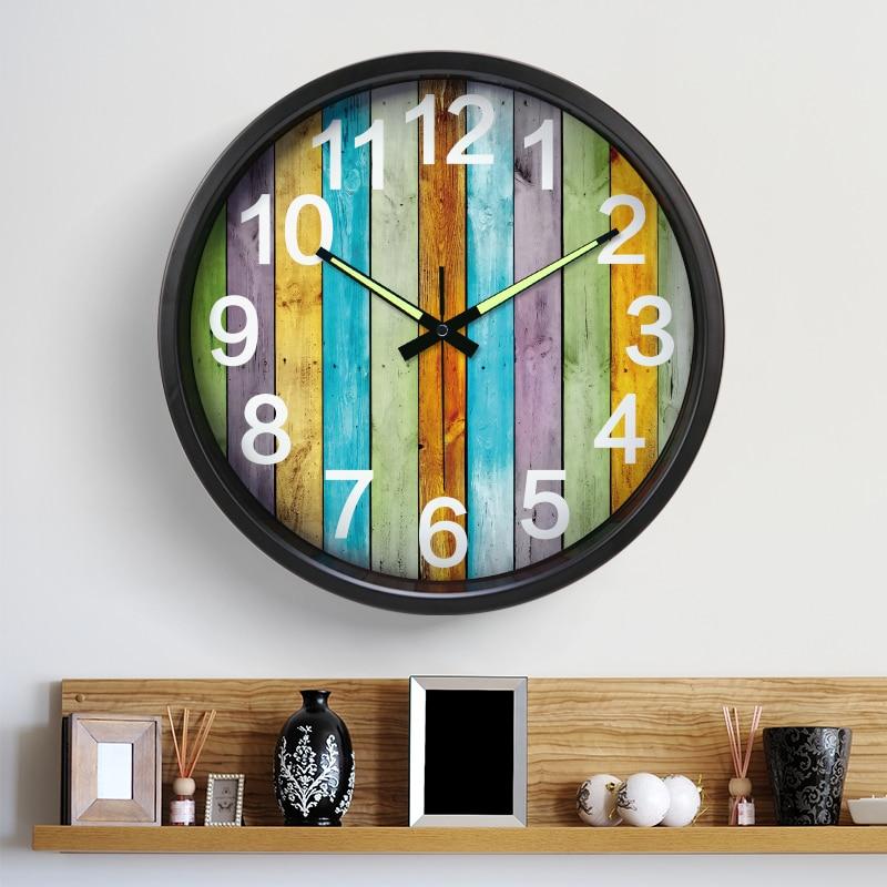 2017 New 14 inche Luminous Mute Wall Clock Mediterranean