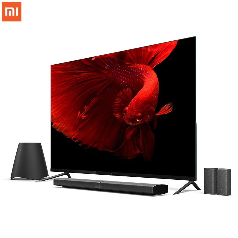 Оригинал Сяо mi ТВ 4 65 Inchs умный ТВ английский Интерфейс Настоящее 4 К HDR ультра тонкий телевидения 3D Dolby Atmos Wi-Fi/BLE подключения ...