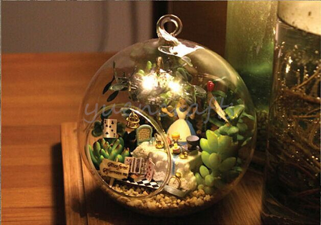 Fairy Garden Terrarium Kit With Alice S Tea Cup Madness Diy Glass