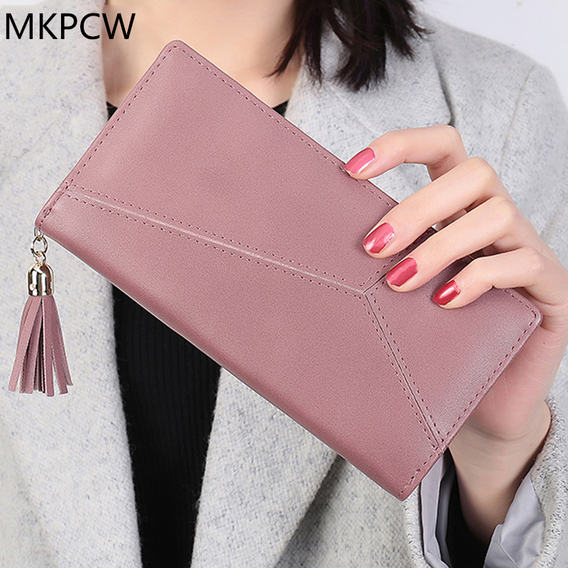High Capacity Fashion Women Wallets PU Leather Long Wallet Female Double Zipper Clutch Coin Purse Ladies large capacity clutch purse female card bags new women long star wallet fashion banquet zipper pu leather wallets