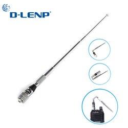 Dlenp telescópica vhf antena dobrável astro 320 sma masculino caça rastreamento walkie talkie antena comprimento total 1 m