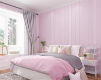 Beibehang Papel De Parede Modern Simple Pure Plain Stripe Pink Green Blue White Bedroom Parlor Hotel