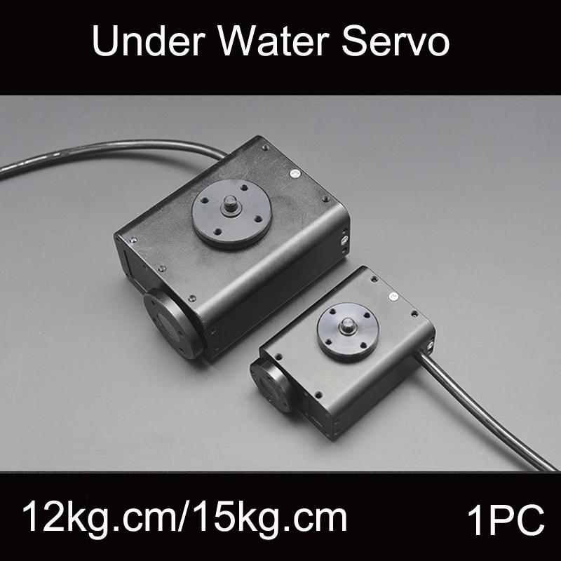 1PC 12 28V Underwater Bionic Robot Steering Gear Waterproof Servo 150M Depth 15Kg cm 34Kg cm