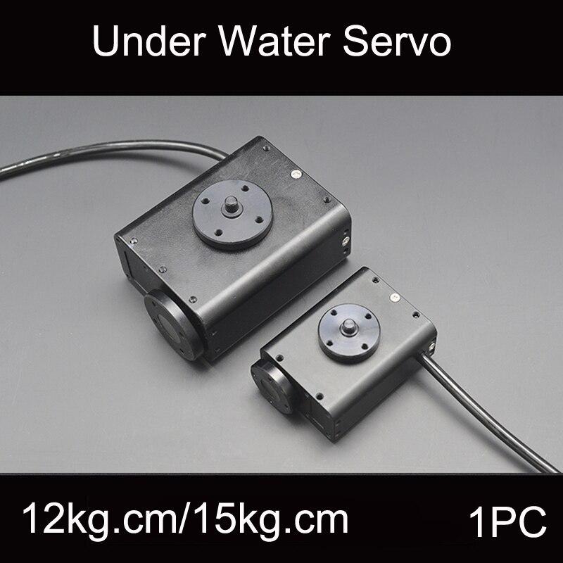 1 PC 12-28 V Direcção Engrenagem Servo À Prova D' Água 150 M Profundidade Subaquática Robô Biônico 15Kg. cm/34Kg. cm para RC ROV AUV Acessórios Cardan