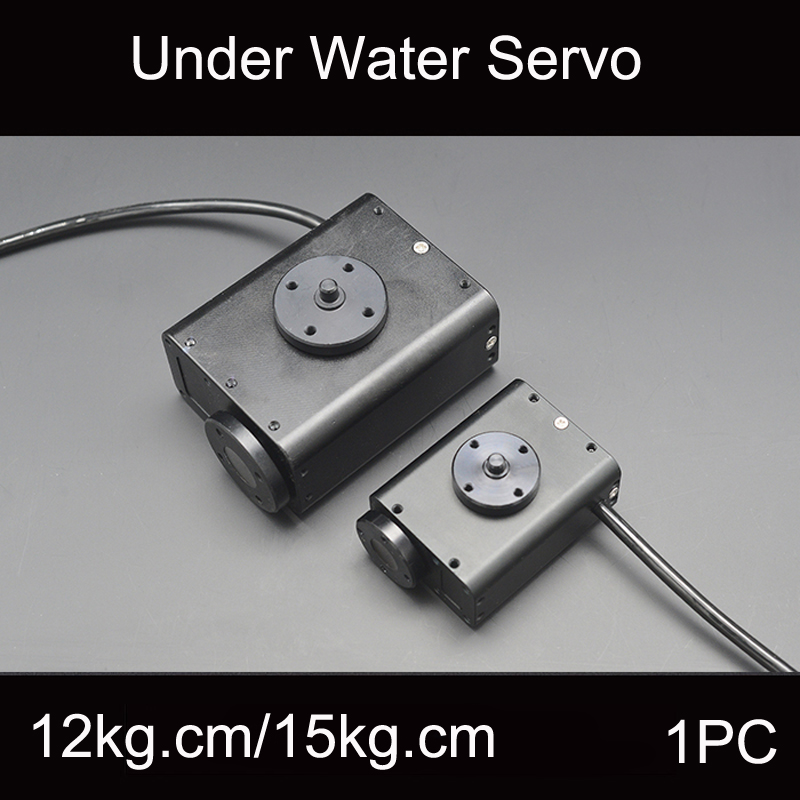 1PC 12-28V Underwater Bionic Robot Steering Gear Waterproof Servo 150M Depth 15Kg.cm/34Kg.cm  for RC ROV AUV Gimbal Accessories1PC 12-28V Underwater Bionic Robot Steering Gear Waterproof Servo 150M Depth 15Kg.cm/34Kg.cm  for RC ROV AUV Gimbal Accessories
