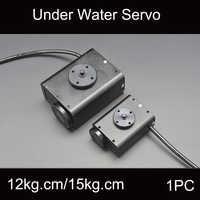 1PC 12-28V Underwater Bionic Robot Steering Gear Waterproof Servo 150M Depth 15Kg.cm/34Kg.cm for RC ROV AUV Gimbal Accessories