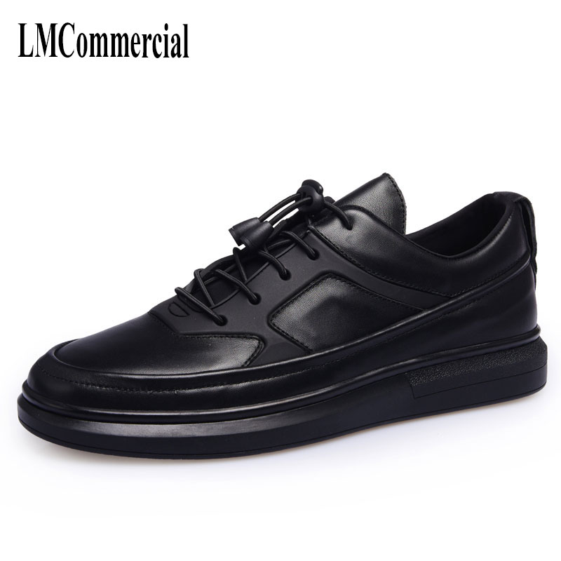 cowhide male trend of Korean all-match British casual shoes Retro Leather young men white shoes big size breathable sneaker new autumn winter british retro men shoes red new shoes all match 2017 male korean men s leather high boots breathable fashion