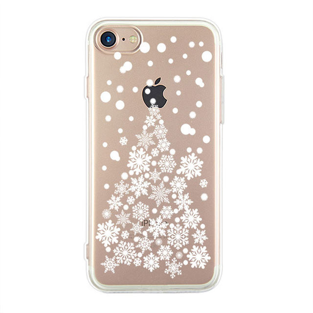 soft silicone case for iphone 7 case christmas snowflake clear tpu back cover for iphone 8 case for iphone7 8 i7 i8 capa coque