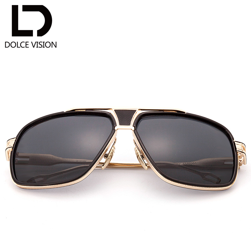 pilot sunglasses brand  Aliexpress.com : Buy DOLCE VISION Rectangle Aviator Sunglasses Men ...
