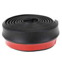 New Auto Rubber Moulding 250 Cm Width Soft Black Rubber Bumper Outside Front Bumper Lip Kit