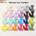 5PCS BPA Free Safe and Natual Silicone Fox Teether Baby Pacifier Dummy Teething Chewable Pendant Nursing Necklace Jewelry