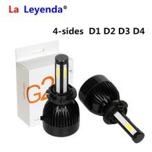 4 Sides COB D1 D2 D3 D4 Headlight Canbus Bulbs H11/H8 LED Fog Car Lights D1R D1C D1S=D2R D2C D2S=D3R D3C D3S=D4R D4C D4S EMC G20