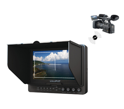 lilliput 665/P/WH, 7 inch Wireless HDMI Monitor with advanced functions, wireless HDMI input,WHDI, YPbPr, component video,