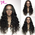 Peruvian virgin Lace Front Wigs Loose Curly Wig Full Lace Human Hair Wigs For Black Women Middle part Lace Front Human Hair Wigs