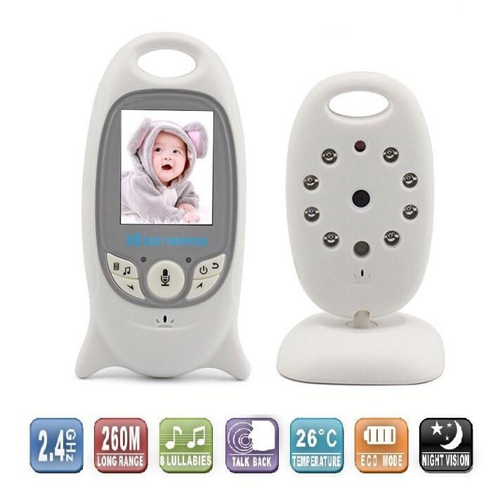 bilder für 2,0 zoll Drahtlose Kamera Babyphone mit IR Nightvision Lullabies Intercom Video Babysitter Kindermädchen Babyphone Kamera
