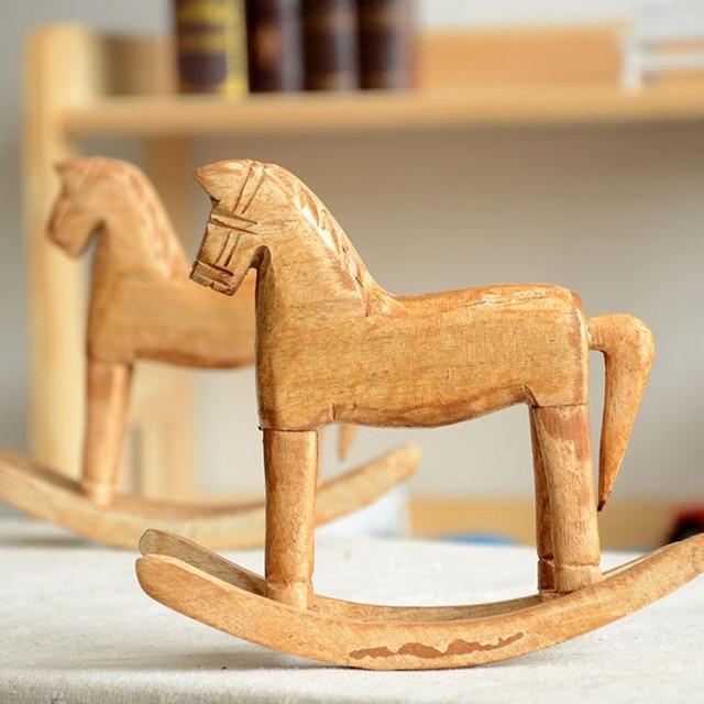 Creative Bois Chevaux de Troie Figurines