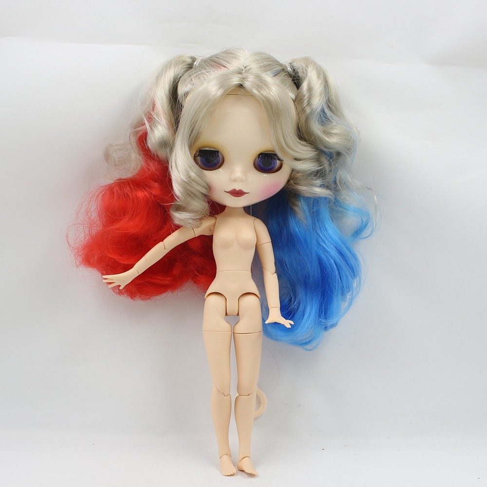 Neo Blythe Doll with Multi-Color Hair, White Skin, Shiny Face & Jointed Body 5