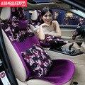 Marca de moda da mulher da menina bonito do laço roxo universal conjunto tampa de assento do carro