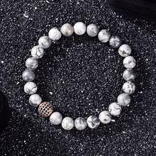 Lko Новые бусины 8 мм браслет из бусин натурального камня 10