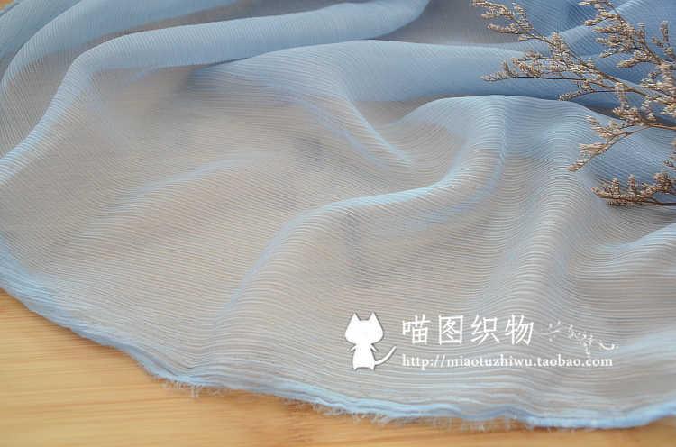 Cor sólida chiffon rugas crepe de seda pano palitos wrinkle chiffon dança saia vestido Chinês tecido leve e transparente