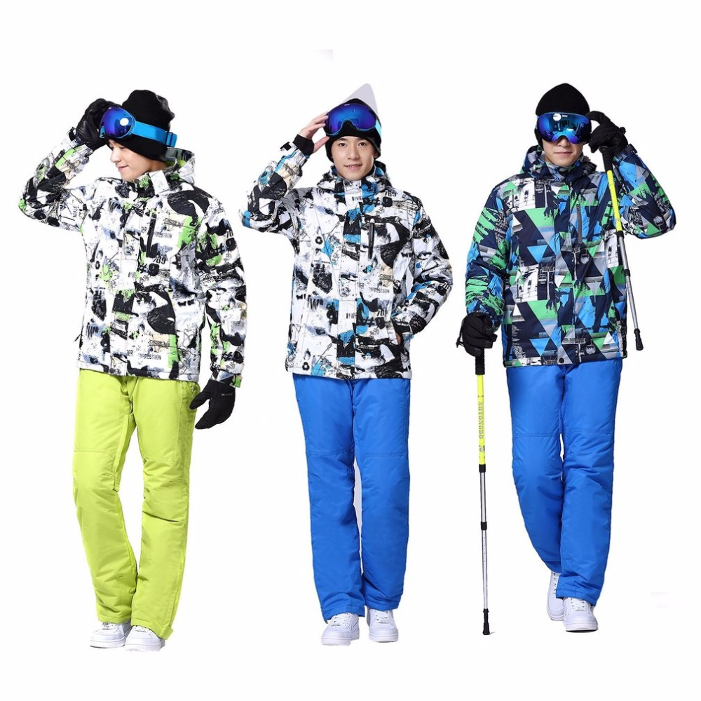 Wild Snow Professional Snow Ski Jacket Pants Suit Waterproof Windproof Outdoor Wear for Skiing Snowboarding for MenWild Snow Professional Snow Ski Jacket Pants Suit Waterproof Windproof Outdoor Wear for Skiing Snowboarding for Men