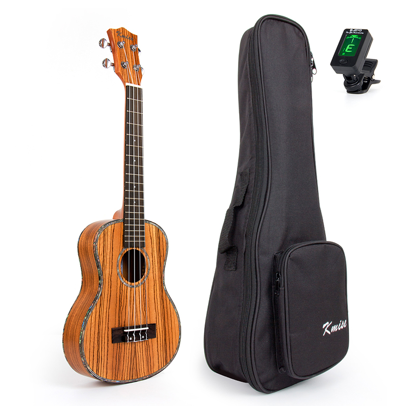 Kmise Travel Ukulele Tenor Thin Body Ukelele Kit Zebra Uke Hawaii Guitar 26 inch 18 Fret with Bag and Tuner neck and fretboard fingerboard for 26 inch tenor ukulele hawaii guitar parts maple and rosewood 18 fret