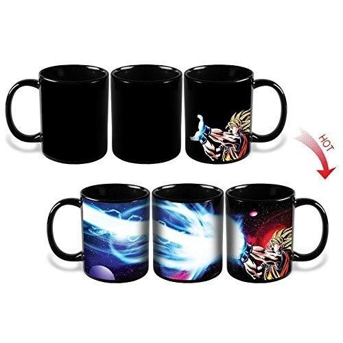 Dragon Ball Z Color Changing Mug,300ml Dragon Ball Gogeta Goku Heat Sensitive Ceramic Temperature Sensing Rtic Milk Coffee Mug
