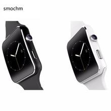 Shiningintl SMOCHM Câmera Pedômetro sm-x6 Whatsapp SIM Card Bluetooth Relógio Inteligente para iPhone Android