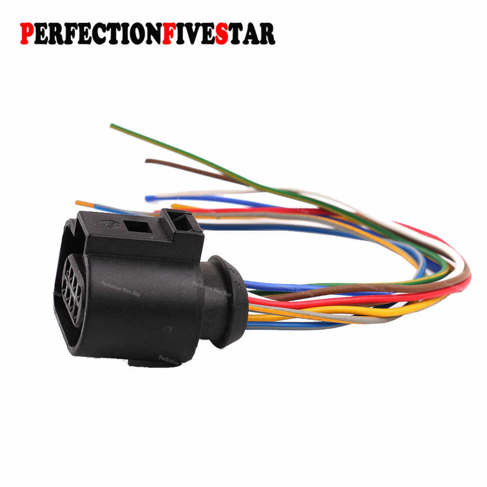 hight resolution of 1j0973714 connector auto electric plug harness wire 8 pin for vw golf jetta passat for audi
