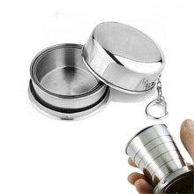 75 ML Mini Cup Stainless Steel Portable Travel Folding Mug Telescopic