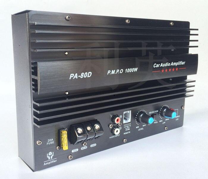1000 W grande puissance de voiture amplificateur conseil 12 V 10 pouces 15 pouce Subwoofer PA80D C5198 + A1941 transistor avec Protection conception