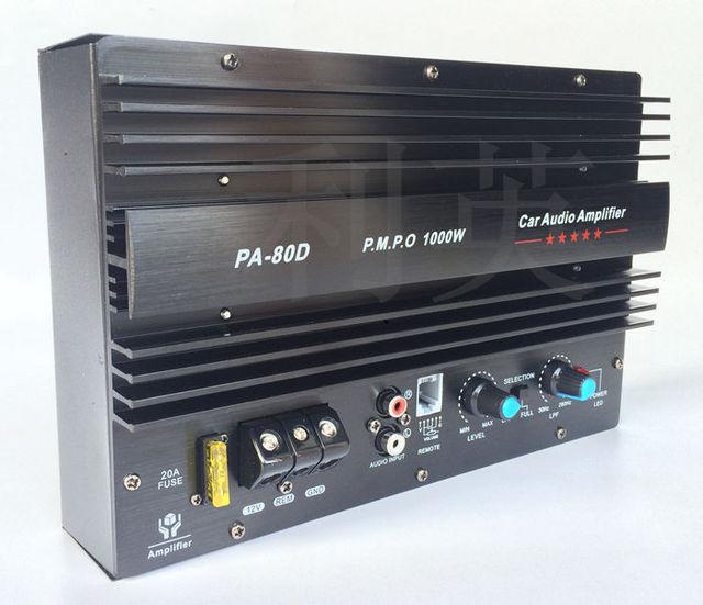 buy 1000w big power car amplifier board 12v 10inch 15 inch subwoofer pa80d. Black Bedroom Furniture Sets. Home Design Ideas