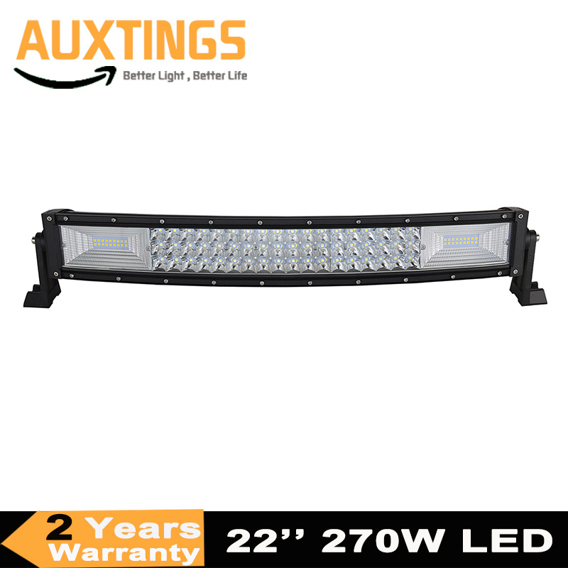 7D Curved 42inch 540W Tri Row LED Work Light Bar Flood Spot Driving Lamp UTE