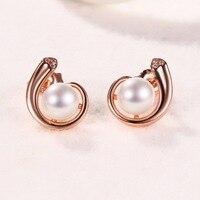 2019 New Fashion 925 Sterling Silver Earrings for Women Classic Ear Cuff Piercing Earring Studs Wedding Pearl Jewelry