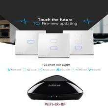Broadlink TC2 Sensible Change Cowl Plate+RM3 Professional+RM Mini three Black Bean + A1 Sensor E-air Air High quality Detector Sensible Residence Automat