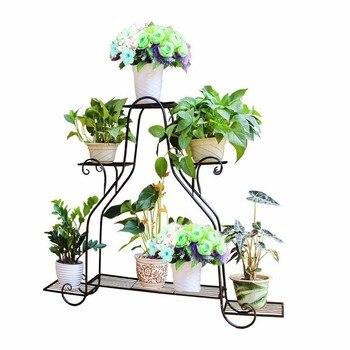 Balcon Dekorasyon Scaffali In Metallo A Ripiani Decorative Metal Varanda Balcony Plant Stand Shelf Balkon Flower Iron Rack Plant Stand