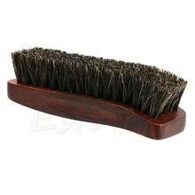 Профессиональная натуральная щетина конский волос обуви блеск полировка щетка деревянная
