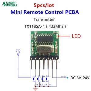 Image 1 - 5 stück 433 Mhz Lagerungs RF drahtlose sender modul 1527 Encoding EV1527 Code breite spannung 3V 24V Für fernbedienung