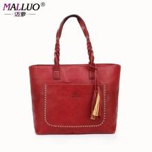 Malluo frauen messenger bags handtasche große rindsleder handtaschen big tote hohe qualität damentaschen umhängetasche bolsos mujer feminina